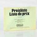 Preisliste Schweiz März 1970