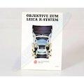 Prospekt Objektive zum Leica R-System 1981
