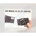 Prospekt Die Minox 35: GT,PL und PE!