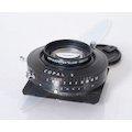 Tessar 4,5/210 Copal 3 mit Linhof Objektivplatte 96x99