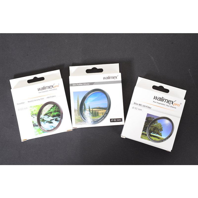 Walimex Pro Filter Starter Set (Pol/UV/ND) E-62