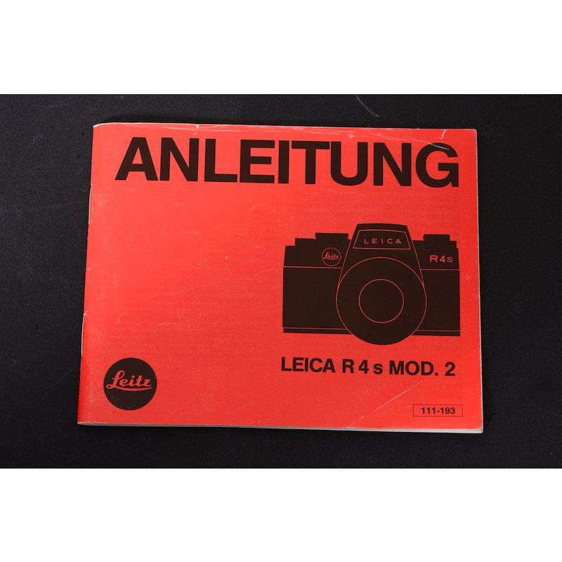 Leica Anleitung R4s MOD.2