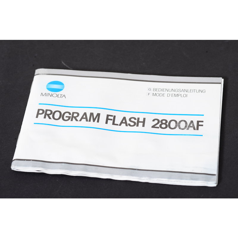 Minolta Anleitung Programm Blitz 2800 AF