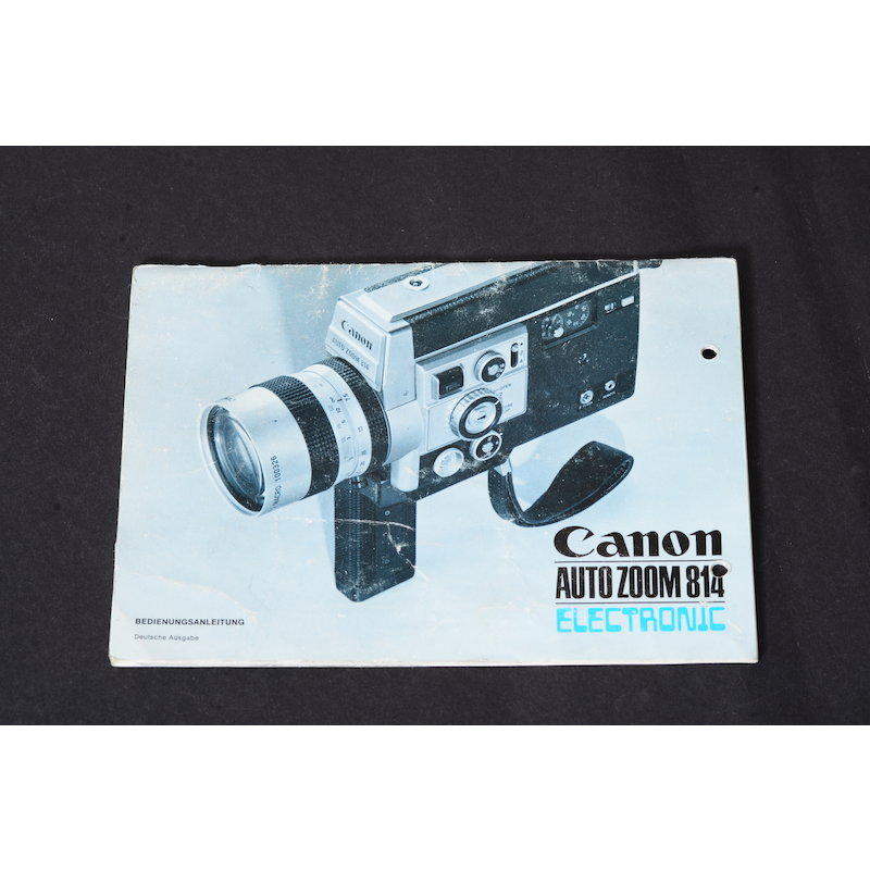 Canon Anleitung Auto Zoom 814 Electronic