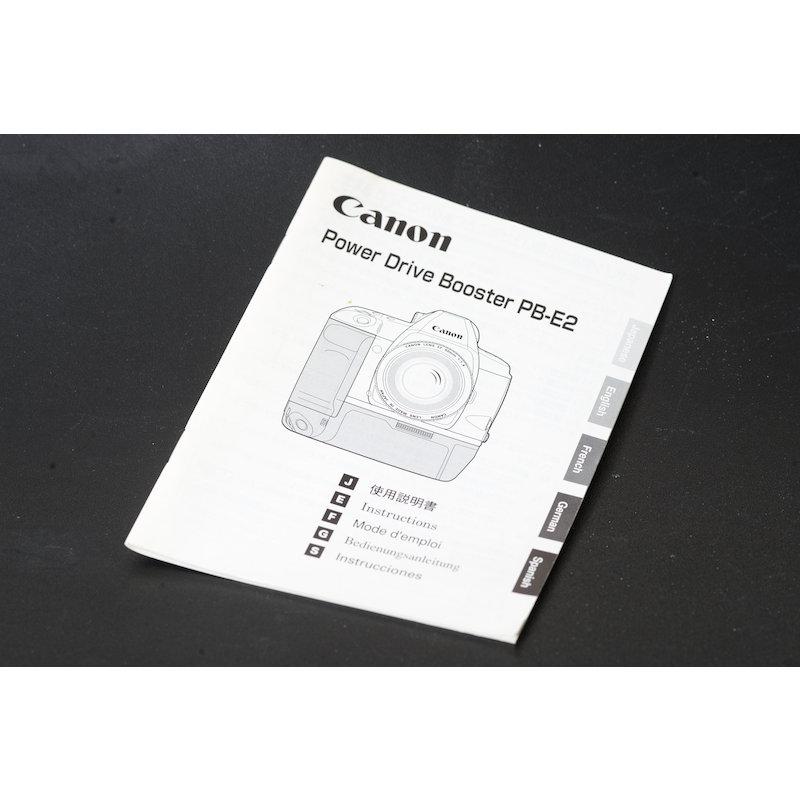 Canon Anleitung Power Drive Booster PB-E2