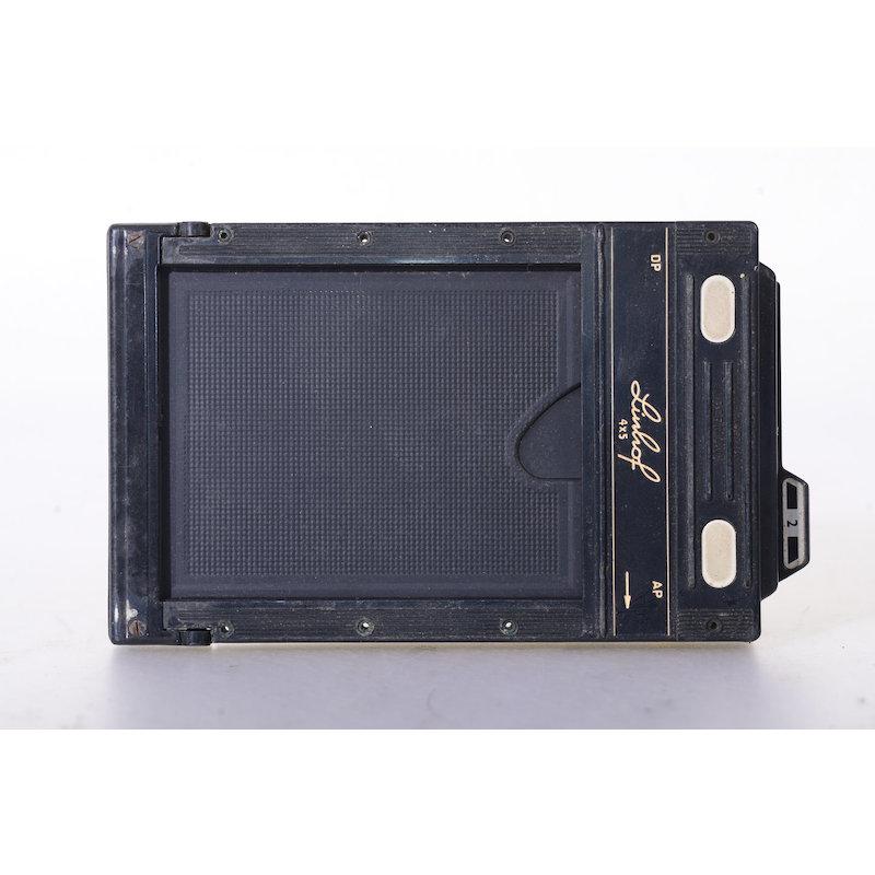 Linhof Doppelplanfilmkassette+Auswerfer 4x5 (Ein Schieber fehlt)