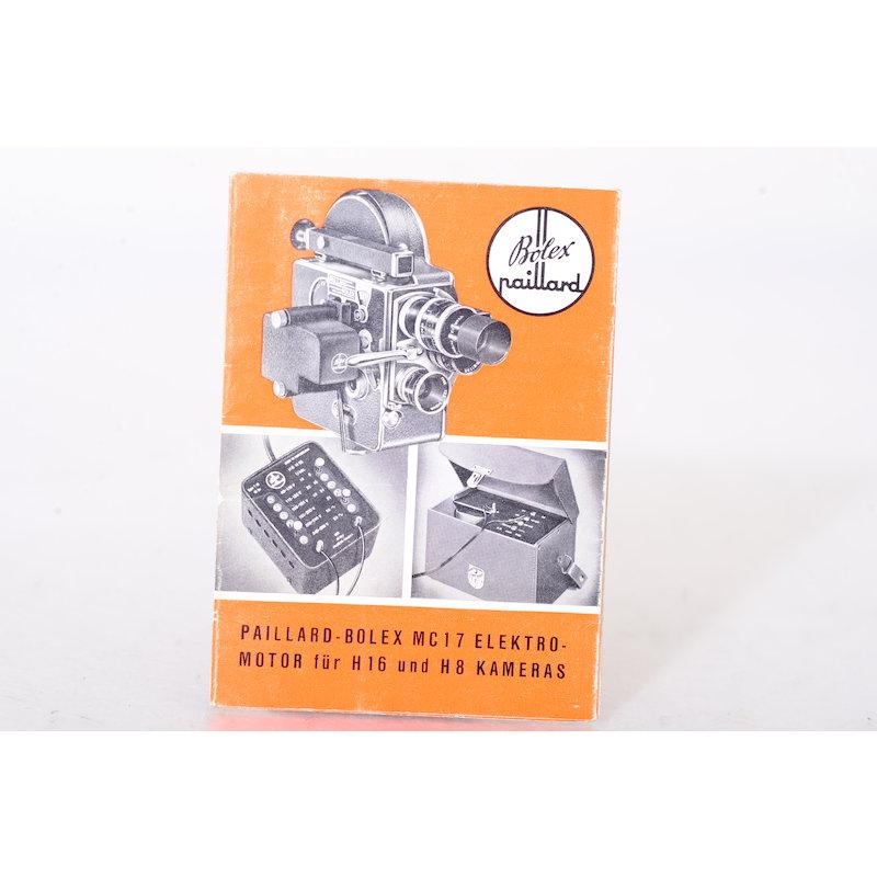 Bolex Anleitung Paillard-Bolex MC17 Elektromotor