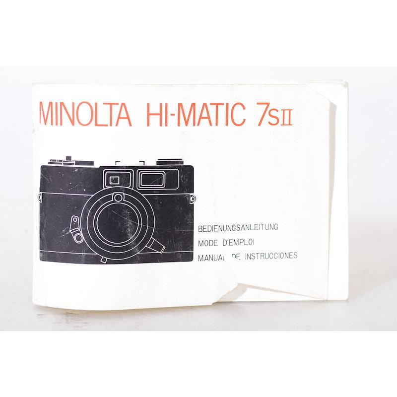 Minolta Anleitung Hi-Matic 7SII