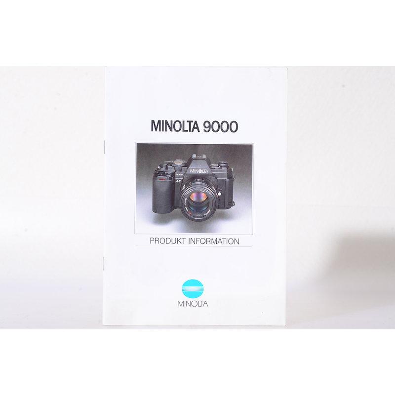Minolta Prospekt Minolta 9000 - Produkt Information