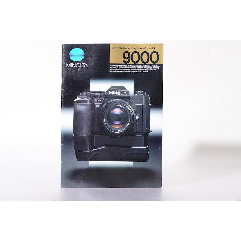 Minolta Prospekt Minolta 9000 - The professional Hi-Tech Autofocus SLR