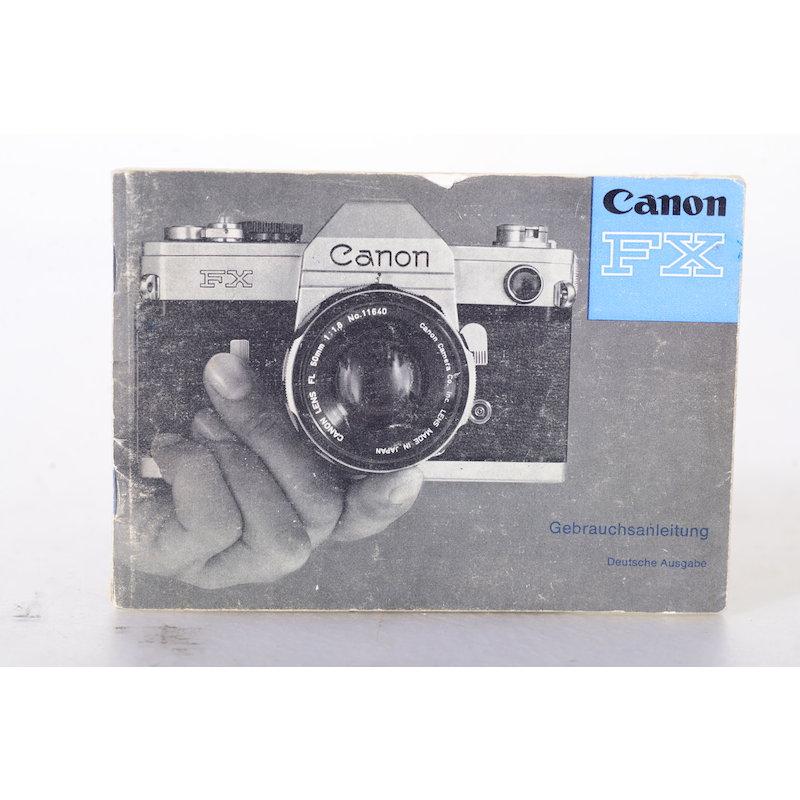 Canon Anleitung FX