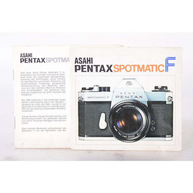 Pentax Anleitung Spotmatic F