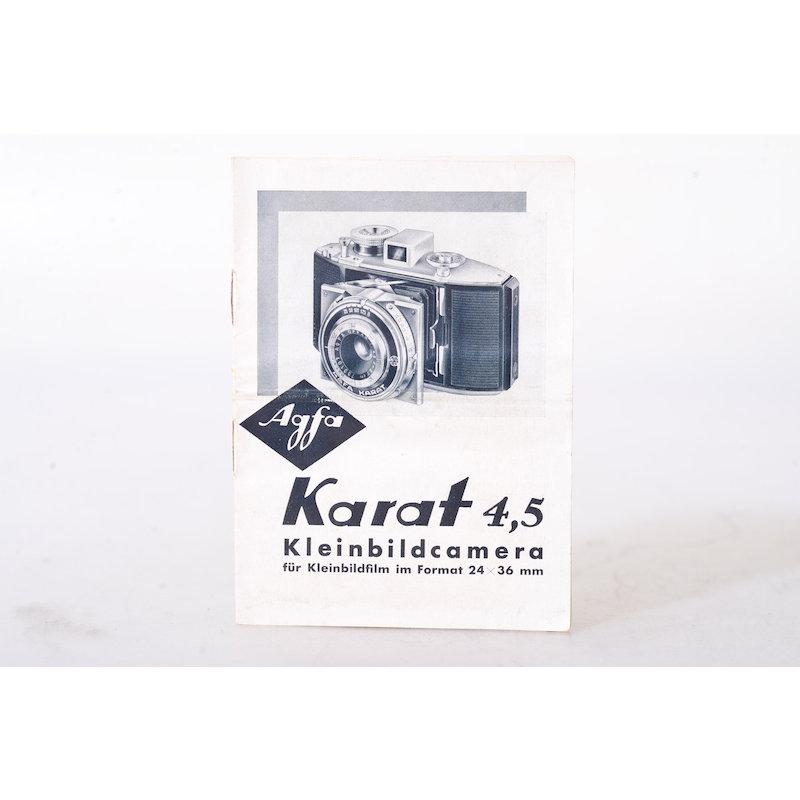 Agfa Anleitung Karat 4,5