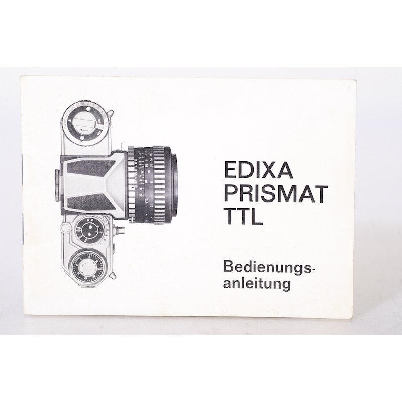 Wirgin Anleitung Edixa Prismat TTL