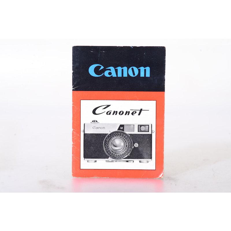 Canon Anleitung Canonet (Englisch)