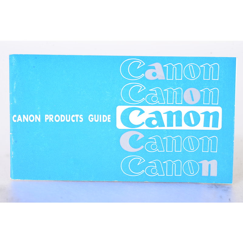 Canon Prospekt Canon Products Guide (Englisch)