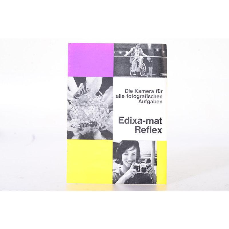 Wirgin Prospekt Edixa Mat Reflex - Die Kamera für alle fotografischen Aufgaben