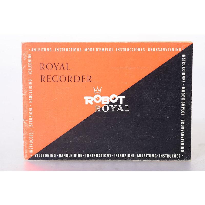 Robot Anleitung Royal Recorder / Robot Royal
