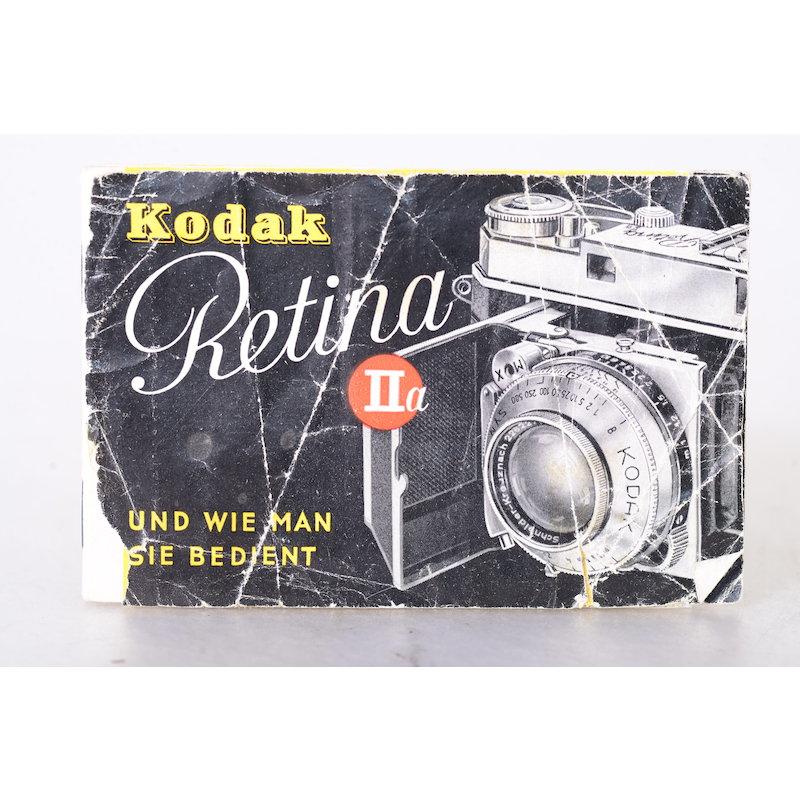Kodak Anleitung Retina IIa - Und wie man sie bedient