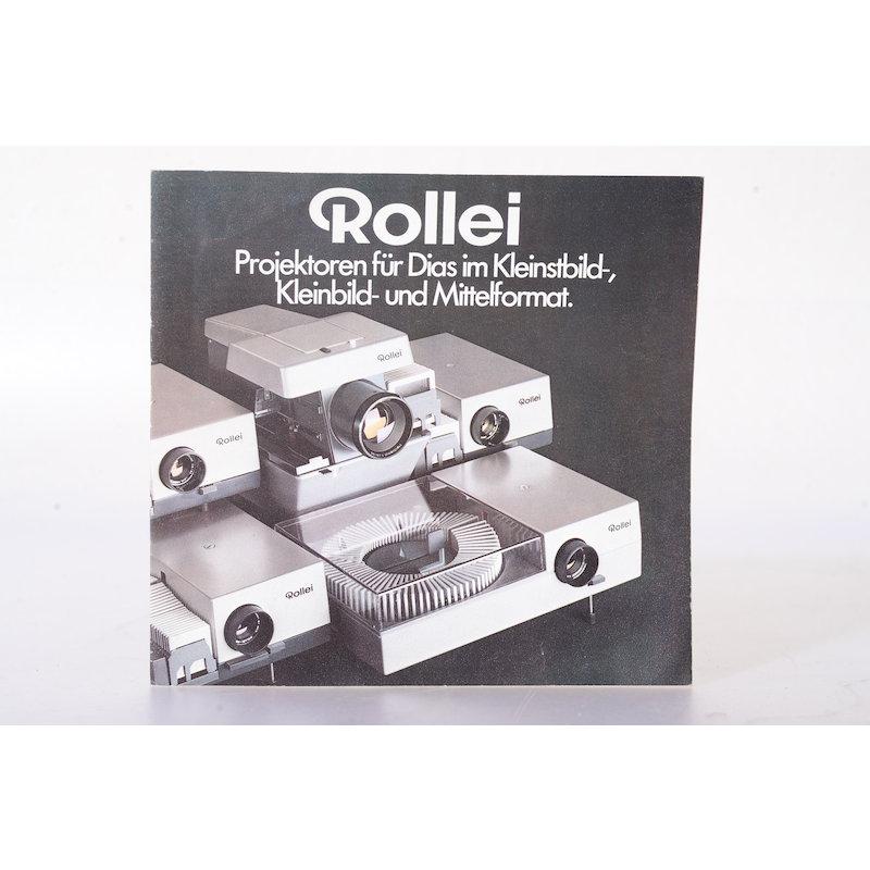 Rollei Prospekt Projektoren für Dias im Kleinbild- und Mittelformat