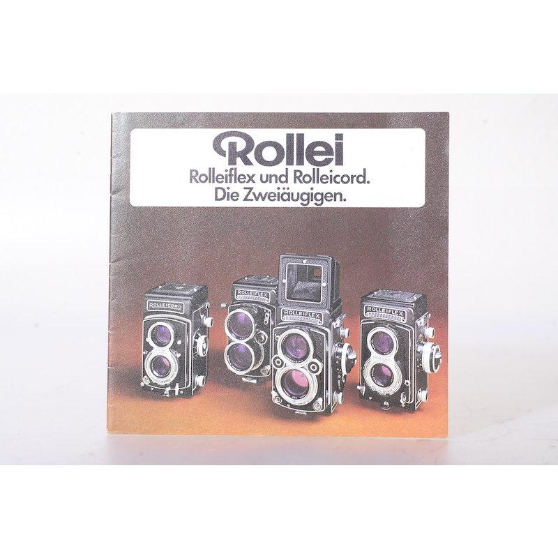 Rollei Prospekt Rolleiflex und Rolleicord. Die Zweiäugigen.