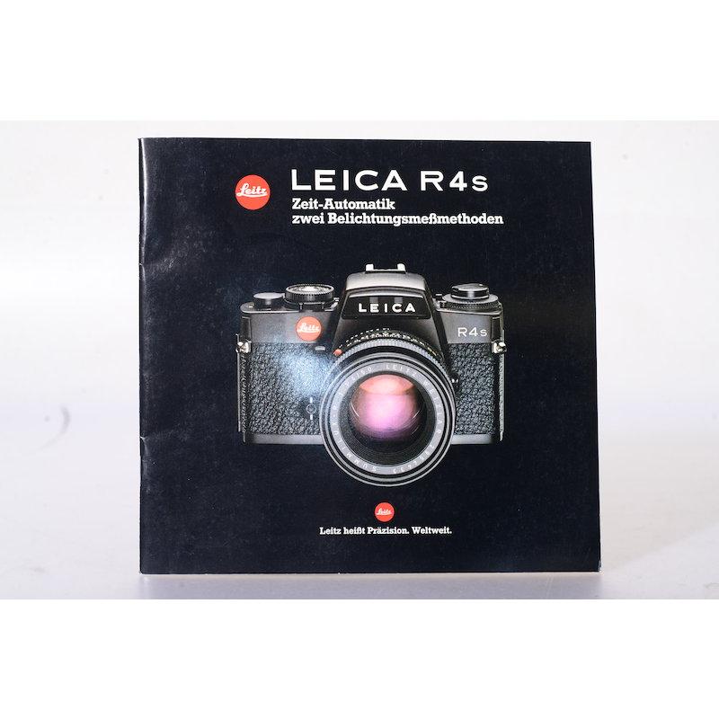 Leitz Prospekt Leica R4s Zeit-Automatik zwei Belichtungsmeßmethoden
