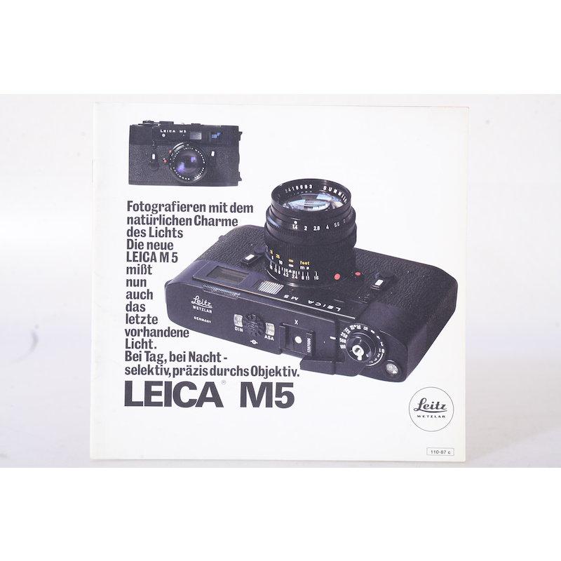 Leitz Prospekt Leica M5