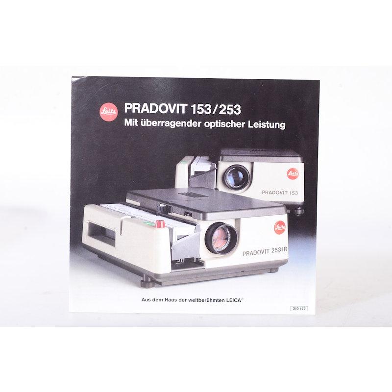Leica Prospekt Pradovit 153/253 - Mit überragender optischer Leistung