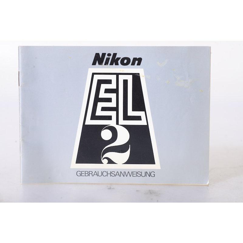 Nikon Anleitung Nikkormat EL-2