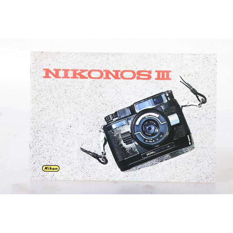 Nikon Anleitung Nikonos III