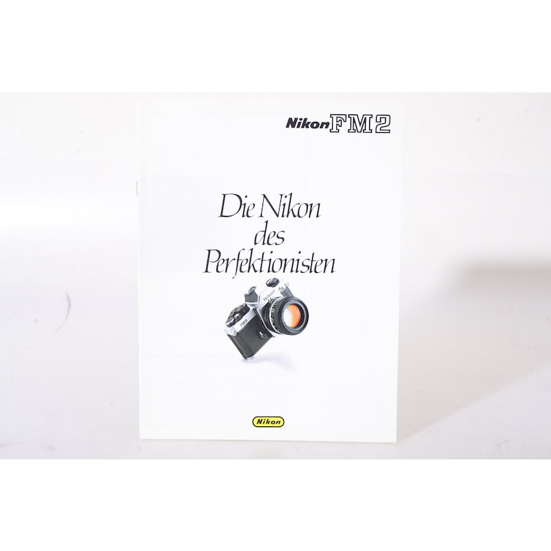 Nikon Prospekt FM2 Die Nikon des Perfektionisten