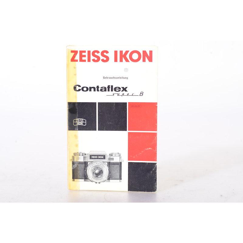 Zeiss-Ikon Anleitung Contaflex Super B