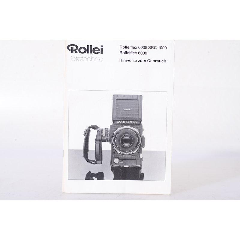 Rollei Anleitung Flex 6008 SRC 1000 Hinweise zum Gebrauch