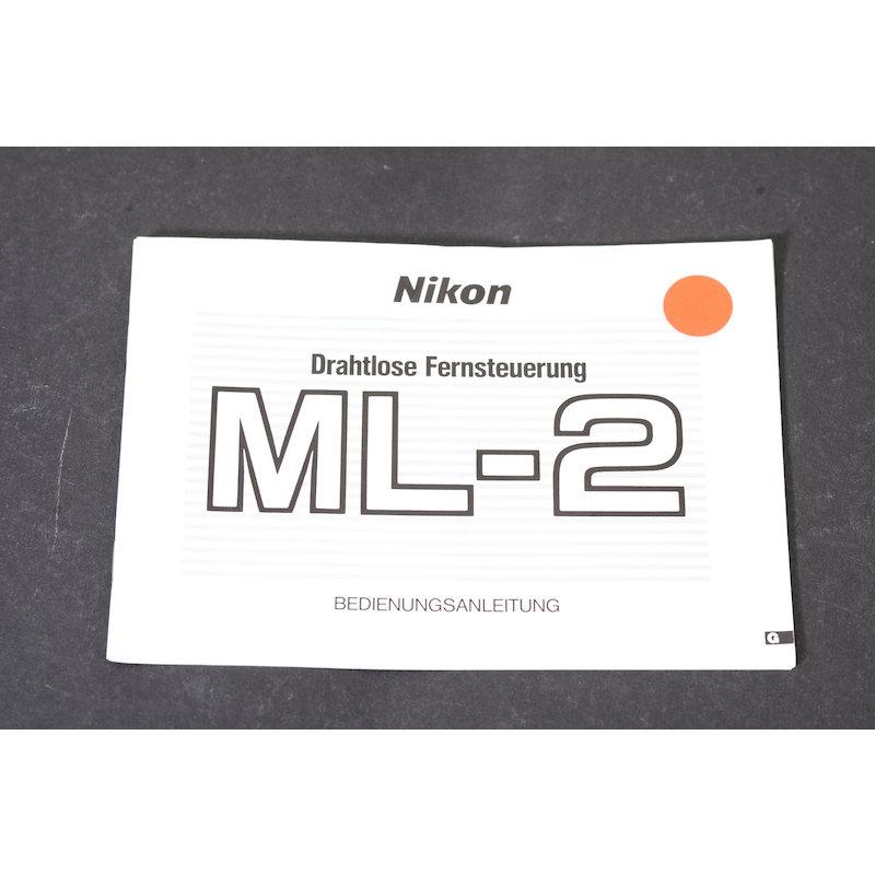 Nikon Anleitung IR-Fernauslöseset ML-2