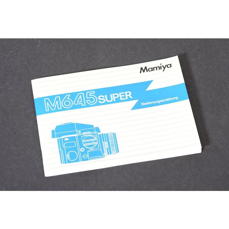 Mamiya Anleitung M645 Super