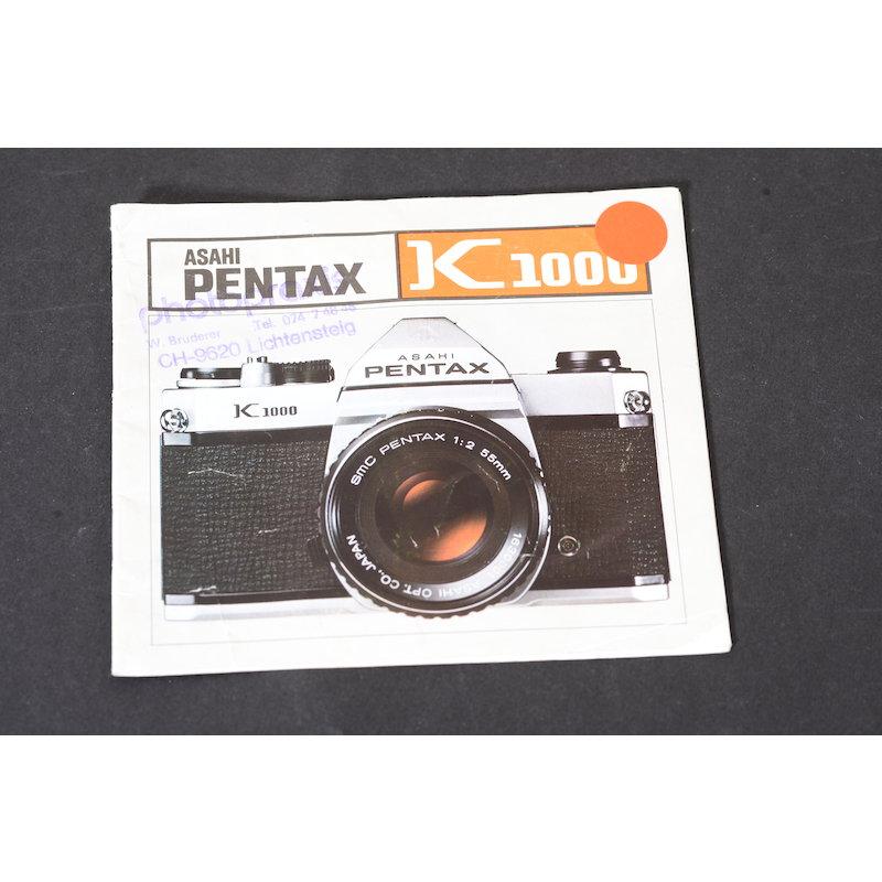 Pentax Anleitung K1000