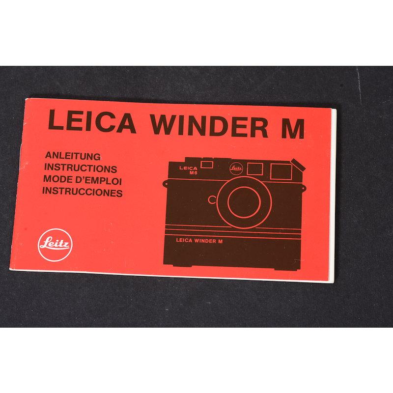 Leica Anleitung Winder M