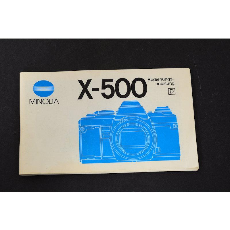 Minolta Anleitung X-500