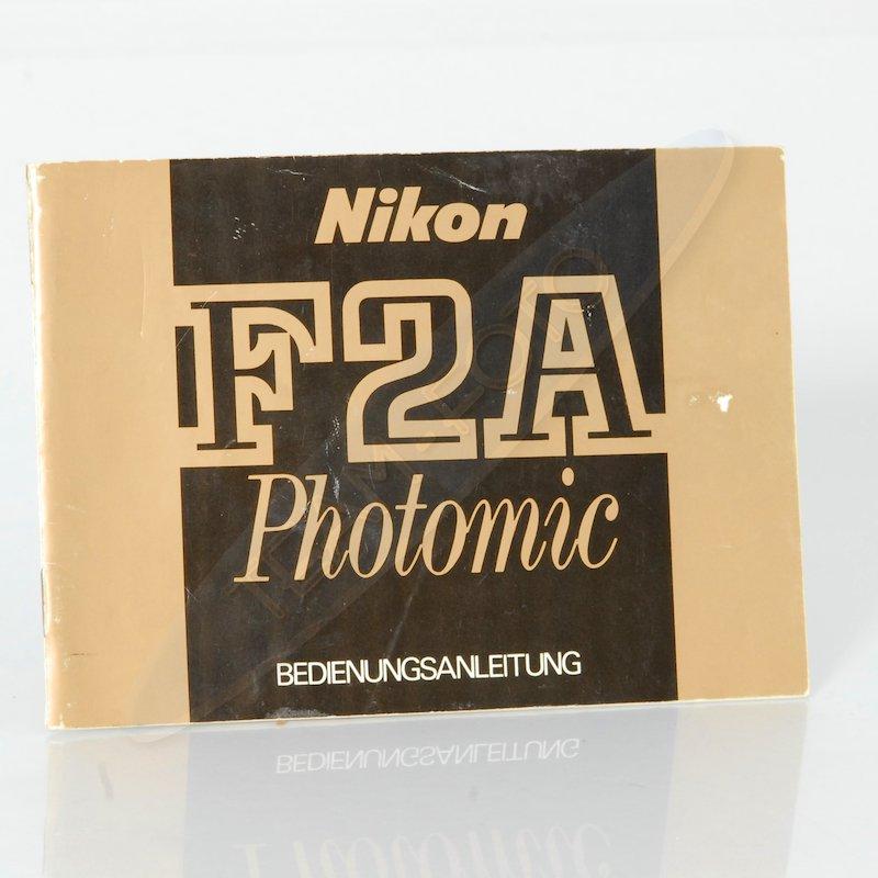 Nikon Anleitung F2A Photomic