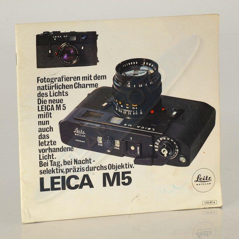 Leica Prospekt M5 Liste 110-87e