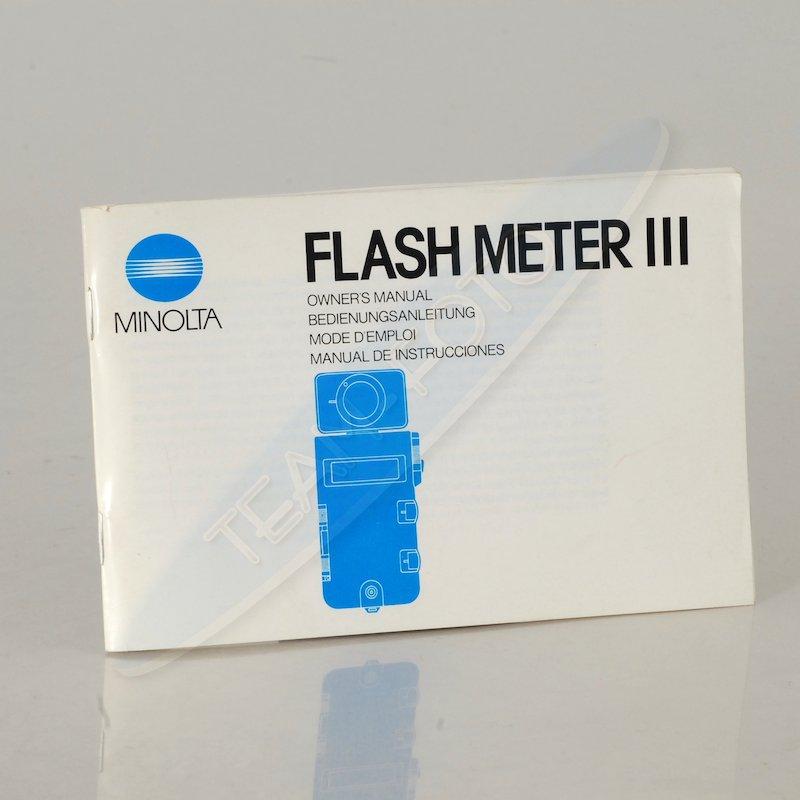 Minolta Anleitung Flash Meter III