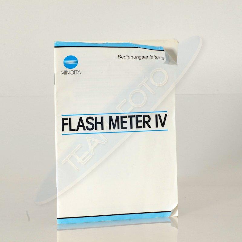 Minolta Anleitung Flash Meter IV