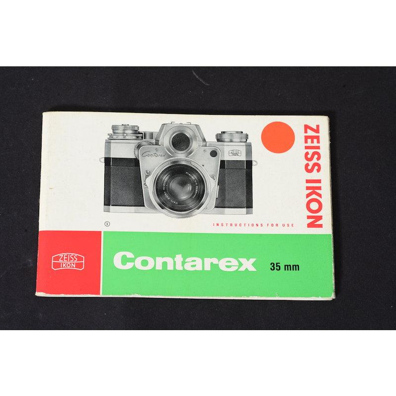 Zeiss-Ikon Anleitung Contarex 35mm (Englisch)