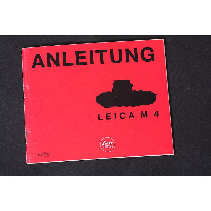 Leica Anleitung M4