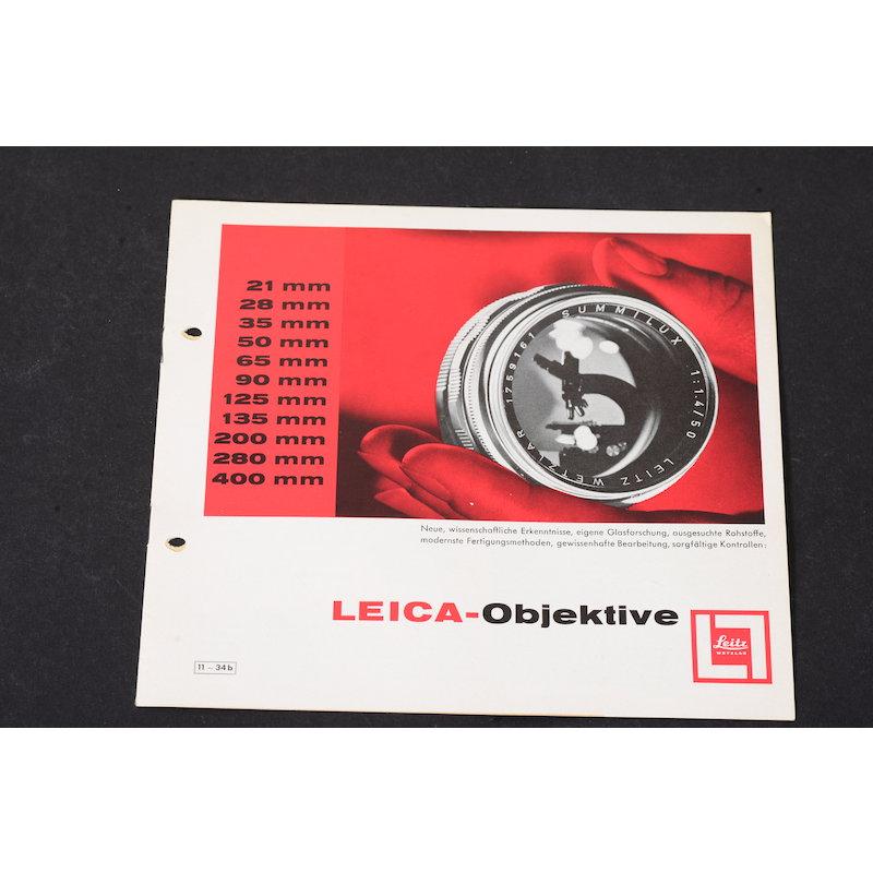 Leitz Prospekt Leica-Objektive