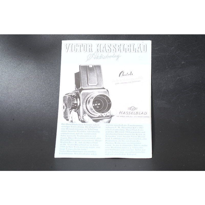 Hasselblad Produktinformation 1980