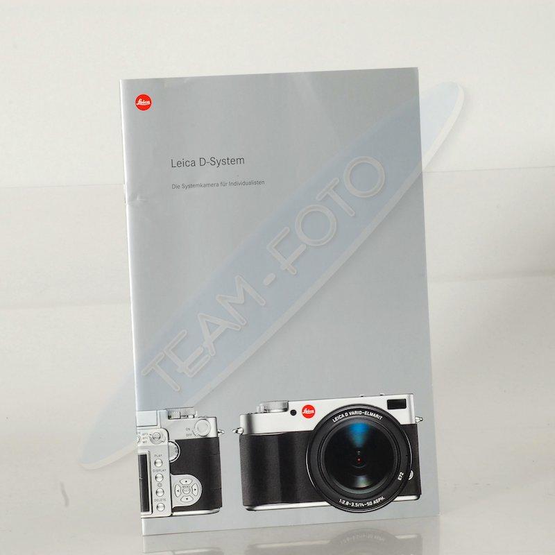 Leica Prospekt D-System Die Systemkamera für Indiv.
