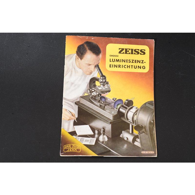 Zeiss-Jena Prospekt Grosse Zeiss Luminesenz-Einrichtung