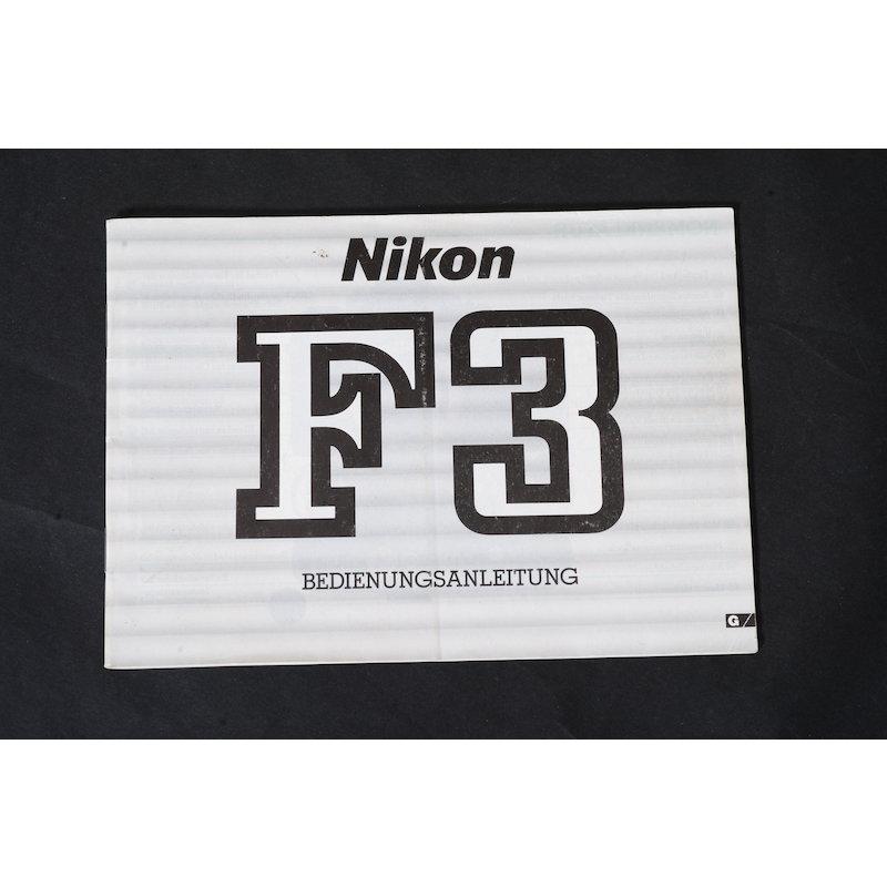 Nikon Anleitung F3