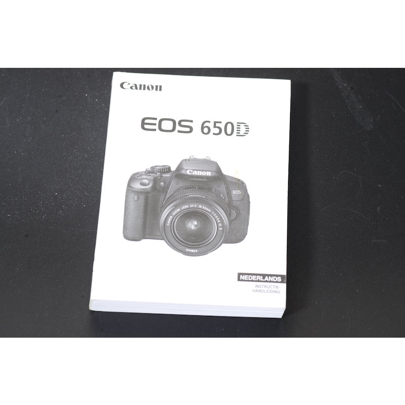 Canon Anleitung EOS 650D (Niederländisch)
